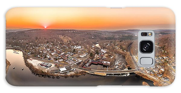 Colinsville, Connecticut Sunrise Panorama Galaxy Case by Petr Hejl