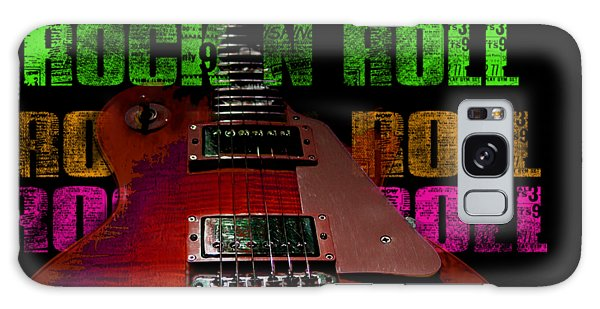 Galaxy Case featuring the photograph Colorful Music Rock N Roll Guitar Retro Distressed by Guitar Wacky
