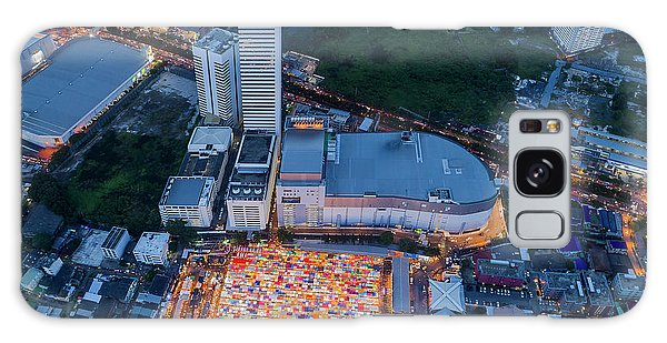 Galaxy Case featuring the photograph Colourful Night Market Aerial View by Pradeep Raja PRINTS