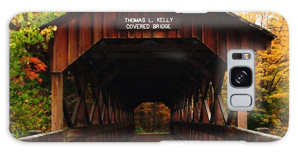 Covered Bridge At Allegany State Park Galaxy Case