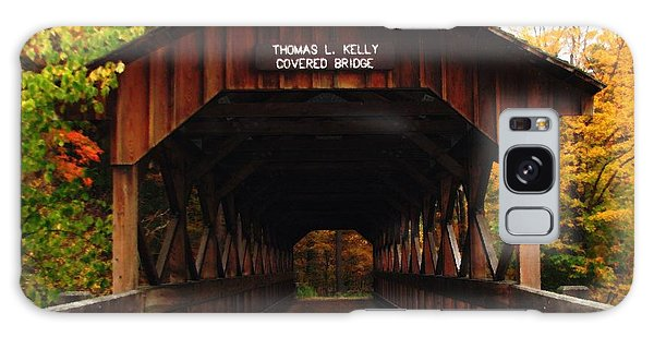 Galaxy Case featuring the photograph Covered Bridge At Allegany State Park by Rose Santuci-Sofranko