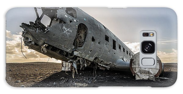 Galaxy Case featuring the photograph Crashed Dc-3 by James Billings