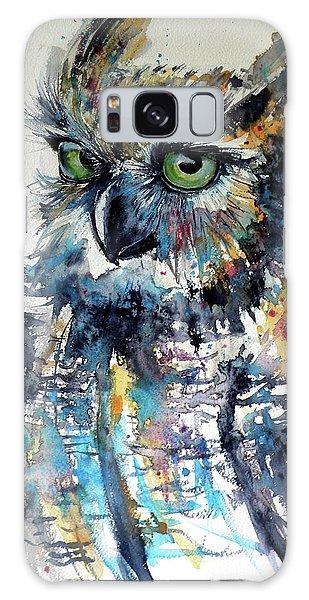 Cute Owl Galaxy Case by Kovacs Anna Brigitta
