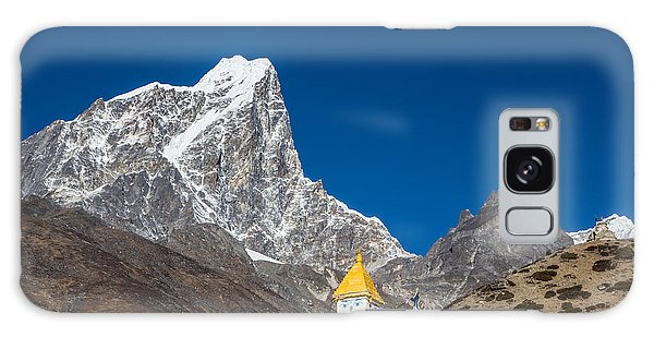 Dingboche Stupa In Nepal Galaxy Case