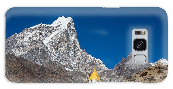Dingboche Stupa In Nepal Galaxy Case