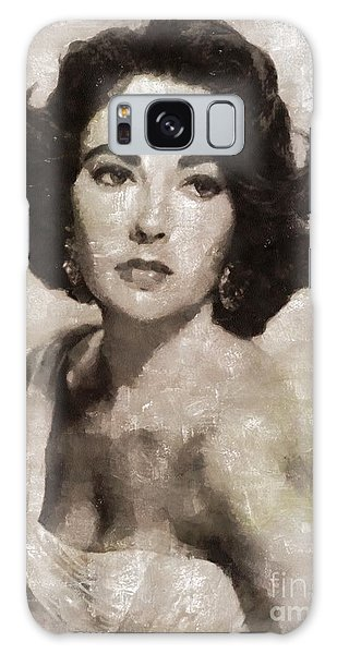 Elizabeth Taylor, Vintage Hollywood Legend By Mary Bassett Galaxy Case by Mary Bassett