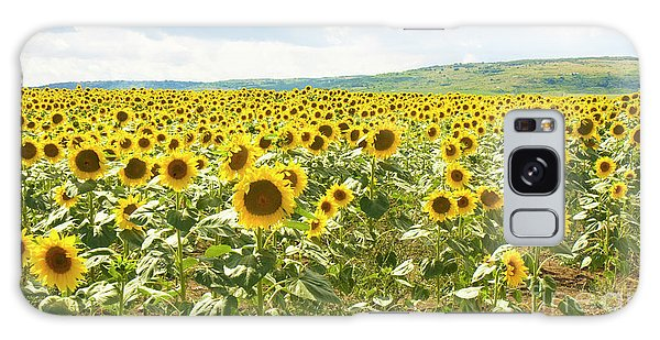 Field With Sunflowers Galaxy Case