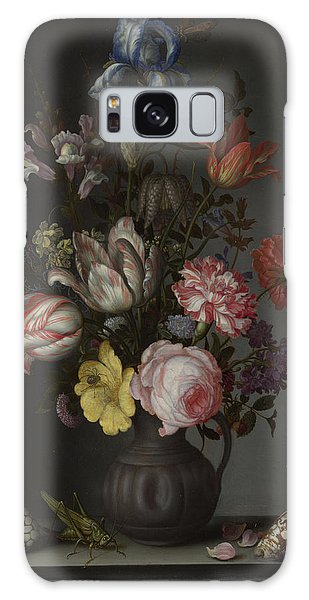 Flowers In A Vase With Shells And Insects Galaxy Case