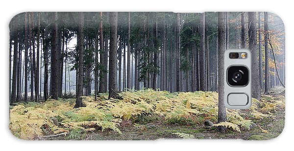 Fog In The Forest With Ferns Galaxy Case by Michal Boubin