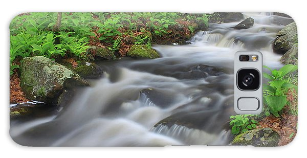 Forest Stream In Spring Galaxy Case by John Burk