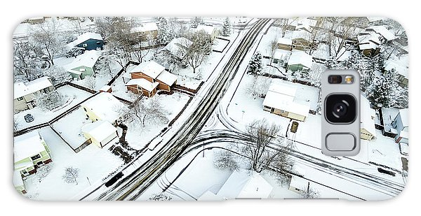 Fort Collins Winter Cityscape Galaxy Case