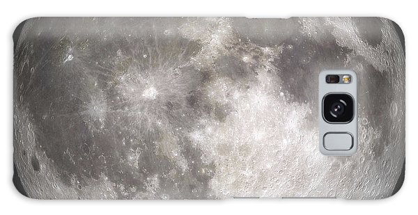 Galaxy Case featuring the photograph Full Moon by Stocktrek Images