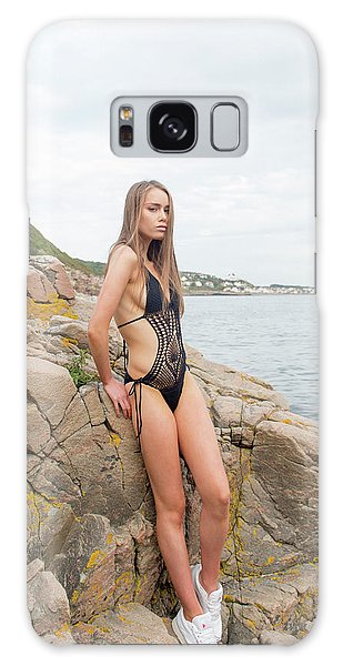Girl In Black Swimsuit Galaxy Case