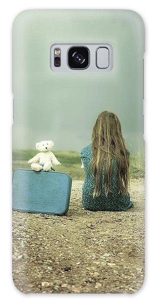 Girl Galaxy Case - Girl In The Dunes by Joana Kruse