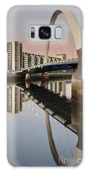 Glasgow Clyde Arc Bridge At Sunset Galaxy Case