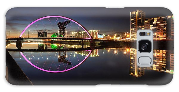 Glasgow Clyde Arc Bridge At Twilight Galaxy Case