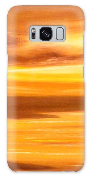 Golden Panoramic Sunset Galaxy Case