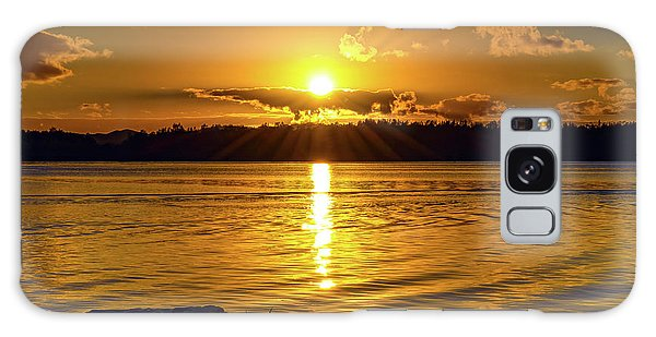 Golden Sunrise Waterscape Galaxy Case