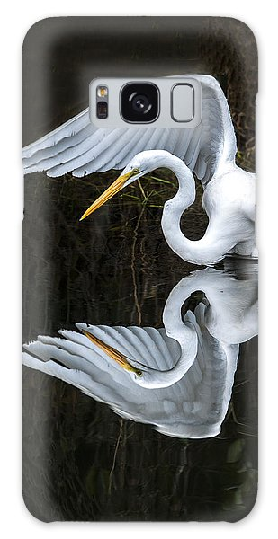 Great Egret Reflection Galaxy Case