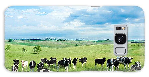 Happy Cows Galaxy Case by Todd Klassy