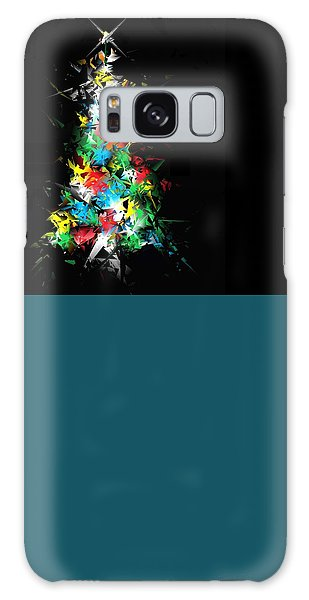 Happy Holidays Galaxy Case by Ludwig Keck