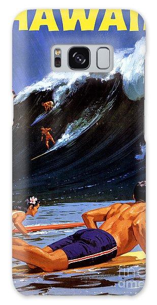 Hawaii Vintage Travel Poster Restored Galaxy Case