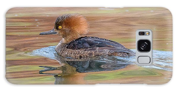 Hooded Merganser Galaxy Case by Jerry Cahill