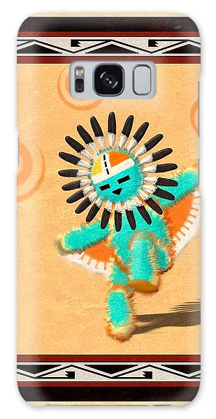 Hopi Sun Face Kachina Galaxy Case by John Wills