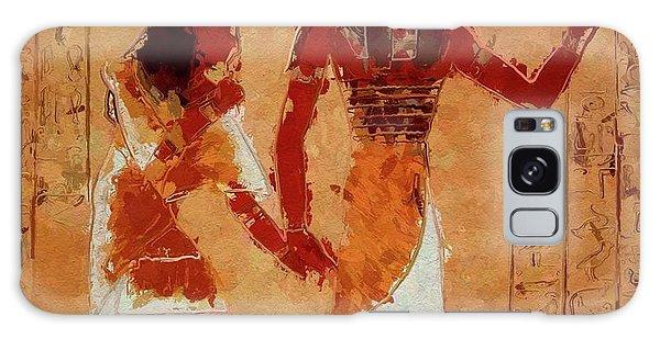 Anubis Galaxy Case - Horus, Egyptian God By Mary Bassett by Mary Bassett