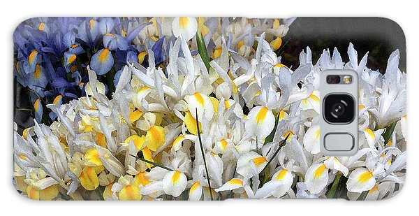Galaxy Case - Incredible Irises In Watercolor by Suzanne Gaff