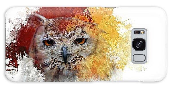 Indian Eagle-owl Galaxy Case