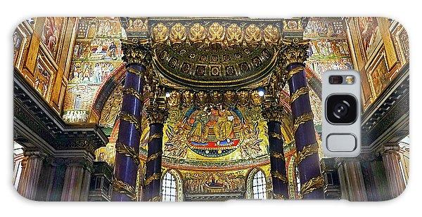 Interior View Of The Basilica Di Santa Maria Maggiore In Rome Italy Galaxy Case