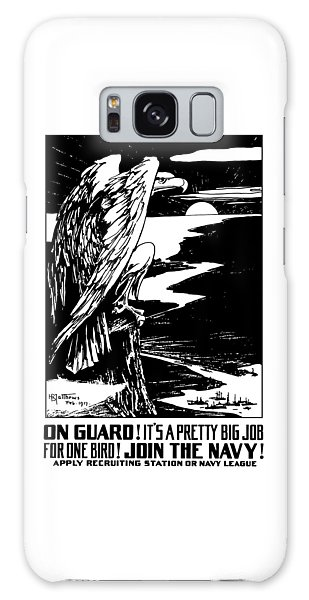 Eagle Galaxy S8 Case - On Guard - Join The Navy by War Is Hell Store