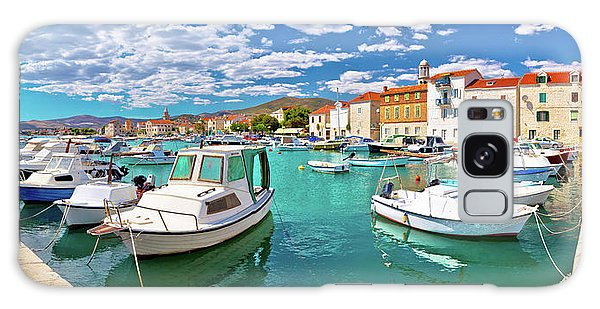 Kastel Novi Turquoise Harbor And Historic Architecture Panoramic Galaxy Case