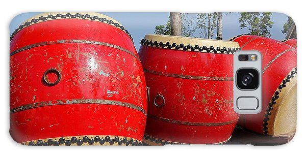 Large Chinese Drums Galaxy Case by Yali Shi