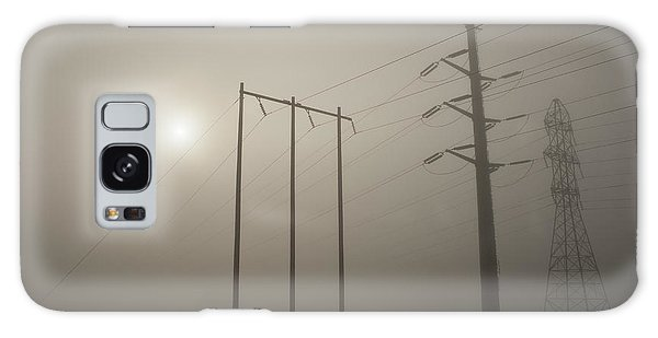 Large Transmission Towers In Fog Galaxy Case