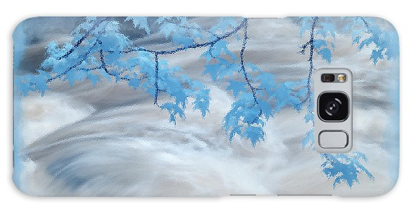 Leaves Over Gossamer Waters Galaxy Case