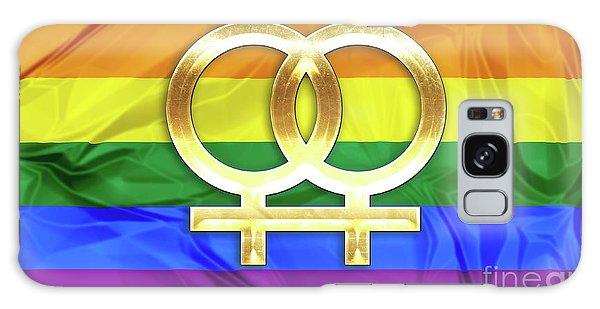 Lesbian Symbols Galaxy Case