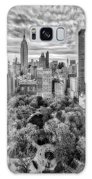 Madison Square Park Aerial View Galaxy Case