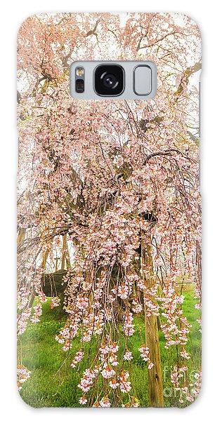 Galaxy Case featuring the photograph Miharu Takizakura Weeping Cherry03 by Tatsuya Atarashi