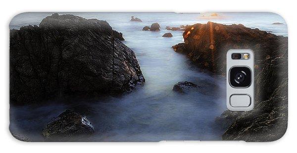 Moss Beach Sunset Galaxy Case