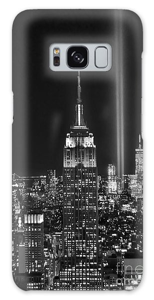 Cities Galaxy Case - New York City Tribute In Lights Empire State Building Manhattan At Night Nyc by Jon Holiday