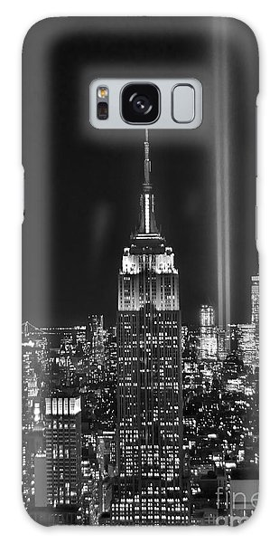 Place Galaxy Case - New York City Tribute In Lights Empire State Building Manhattan At Night Nyc by Jon Holiday