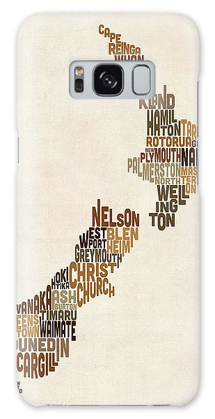 Text Map Galaxy Case - New Zealand Typography Text Map by Michael Tompsett