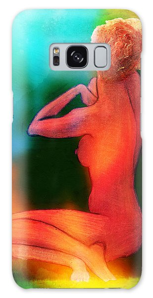 Nude Woman Galaxy Case by Svelby Art