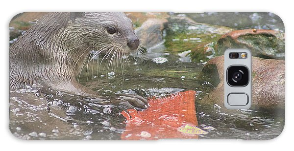 River Otter Galaxy Case - Otter by Martin Newman