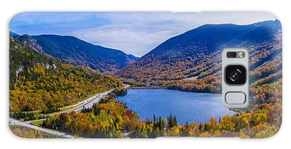 Panoramic View Of Franconia Notch. Galaxy Case