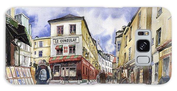 Watercolour Galaxy Case - Paris Montmartre  by Yuriy Shevchuk