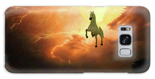 Pegasus By Mary Bassett Galaxy Case