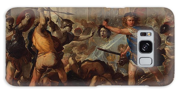Gorgon Galaxy Case - Perseus Turning Phineas And His Followers To Stone by Luca Giordano